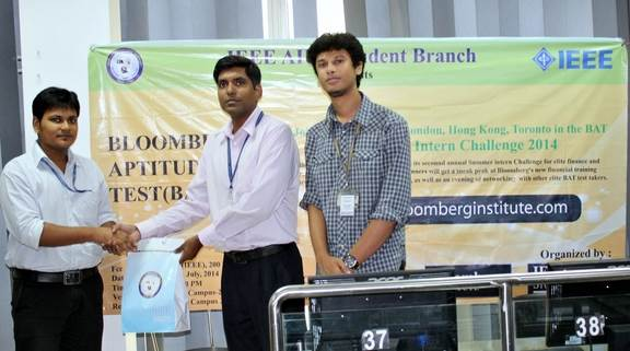 Bloomberg Aptitude Test (BAT) hosted by IEEE AIUB Student Branch