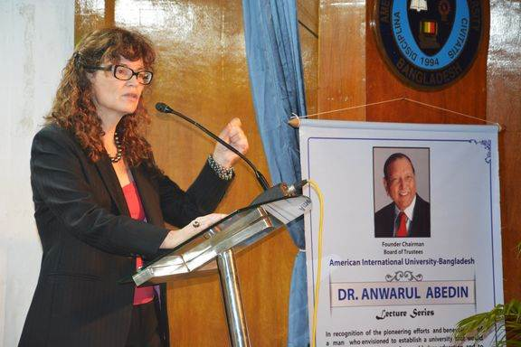High Commissioner Heather Cruden of Canada to BD delivered a lecture in AIUB