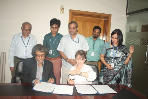 The Department of MMC signed MOU with Maasranga television