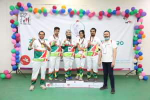 AIUB STUDENTS AT THE BANGABANDHU 9TH BANGLADESH GAMES 2020